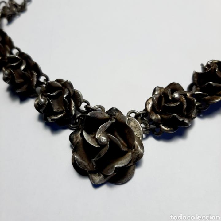 Joyeria: Gargantilla Collar Rosas * PLATA 925 - Foto 2 - 190823725