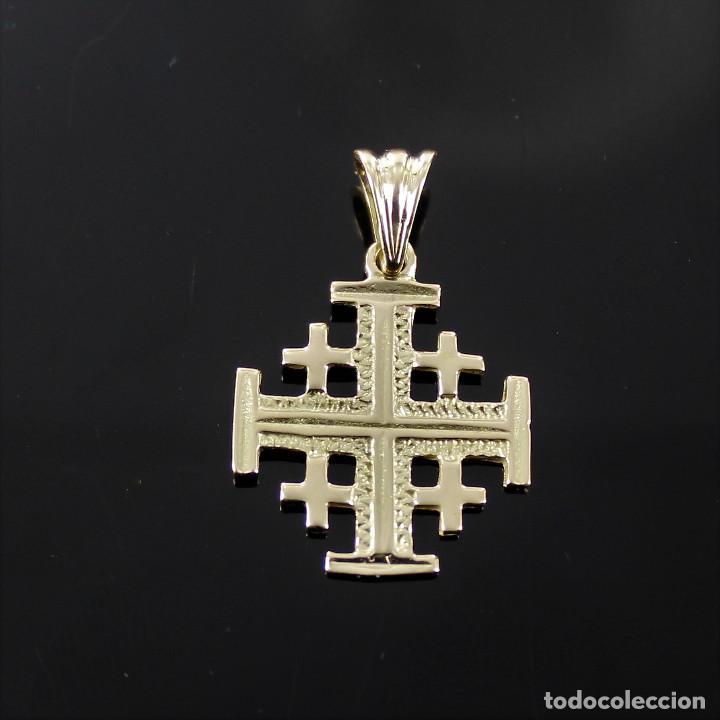 CRUZ DE JERUSALEM DE ORO DE 18K (Joyería - Colgantes Antiguos)