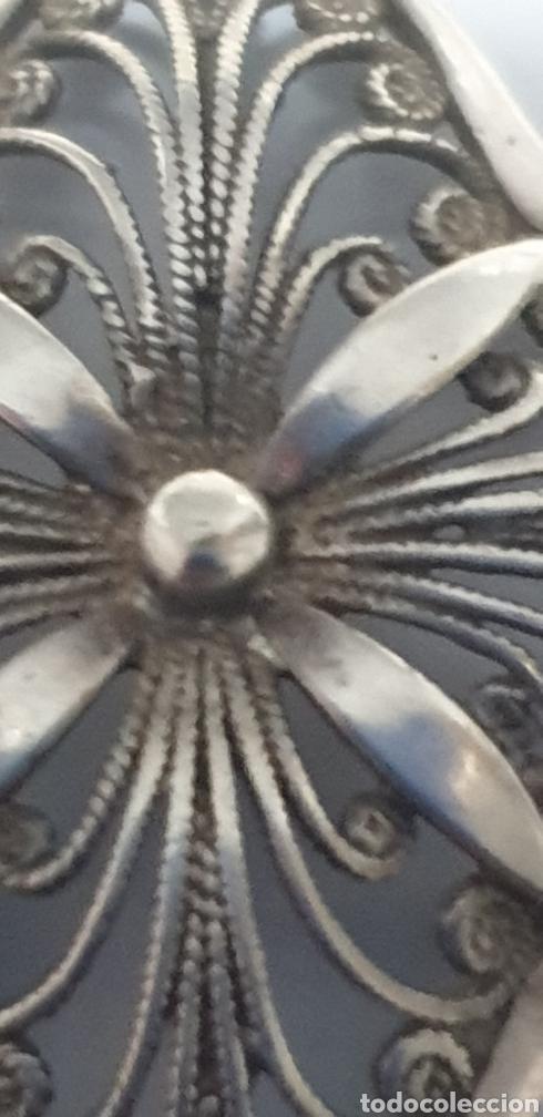 Joyeria: Excelente colgante flor art deco filigrana de plata de ley 925 - Foto 2 - 191760773