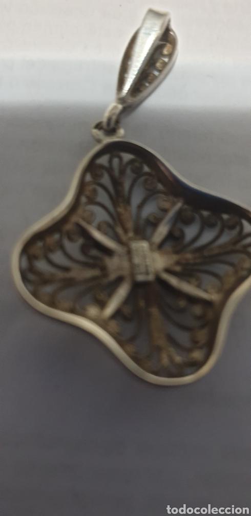 Joyeria: Excelente colgante flor art deco filigrana de plata de ley 925 - Foto 4 - 191760773