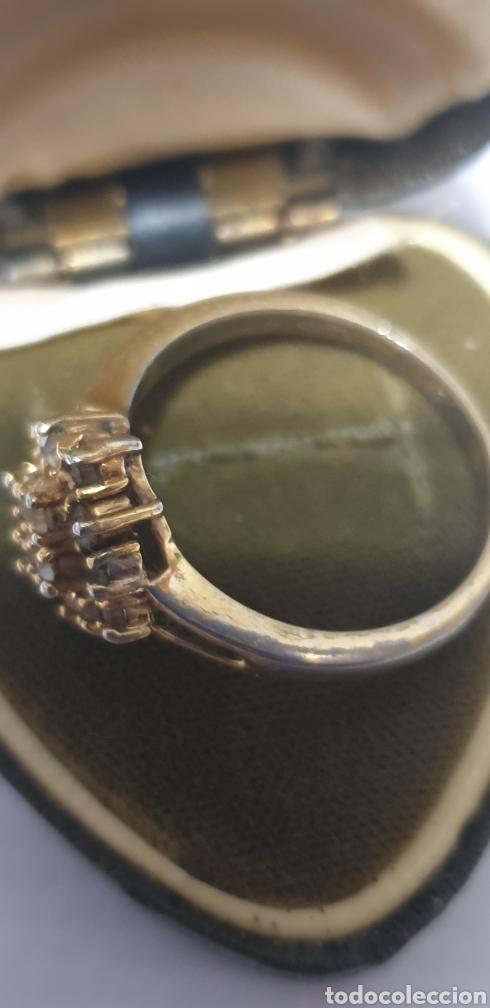 Joyeria: Exquisito anillo de plata con baño de oro antiguo y zafirillo blanco medida 25 - Foto 3 - 191761201