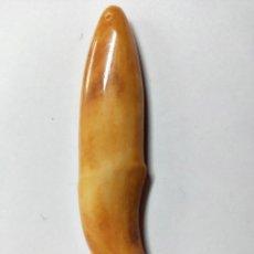 Joyeria: PRECIOSO DIENTE DE TIGRE CON FORMA DE COLGANTE. 7,5 X 1,7 CM. Lote 192919938