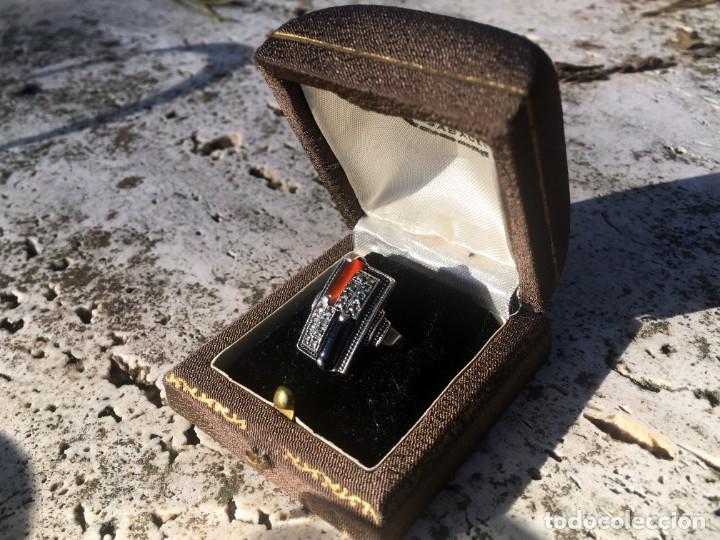 Joyeria: Anillo plata 925 con cristales naturales (carneol y onix) y marquesitas - Foto 3 - 193384715