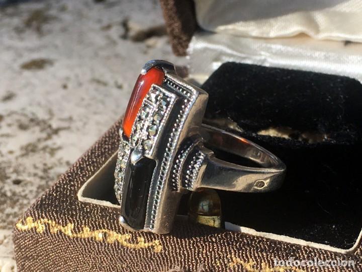 Joyeria: Anillo plata 925 con cristales naturales (carneol y onix) y marquesitas - Foto 8 - 193384715