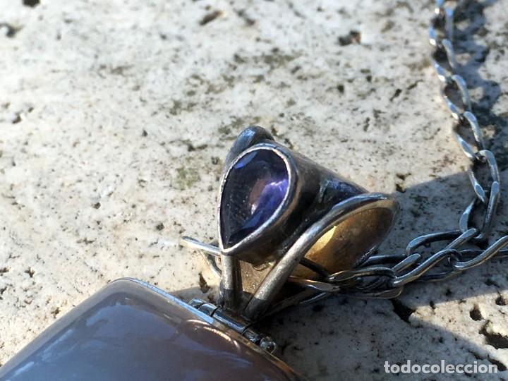 Joyeria: Colgante plata 925 y cristales naturales(piedra de luna y amatista) - Foto 5 - 193388731