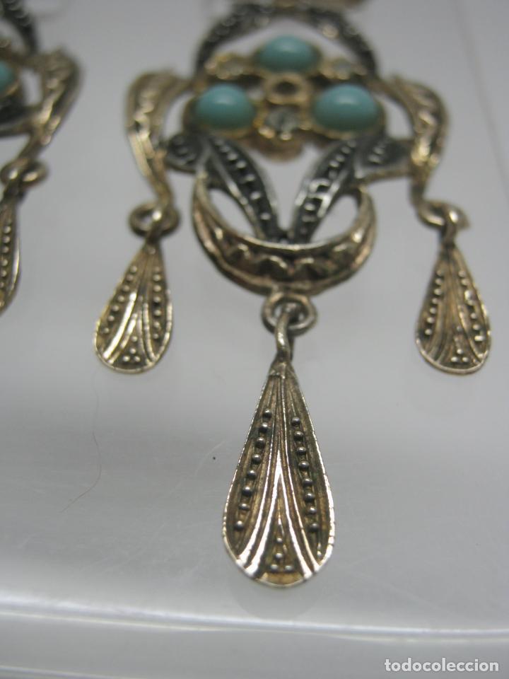 Joyeria: Antiguos bellos pendientes largos tipo Isabelinos PLATA - Foto 4 - 193549010