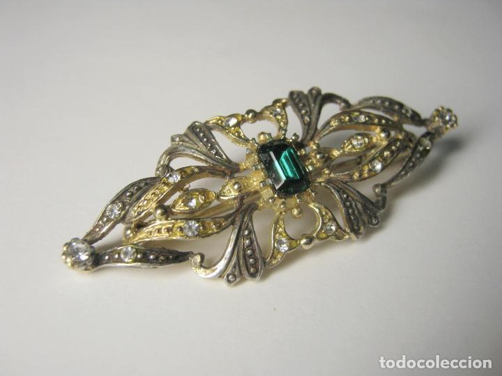 Joyeria: Antiguo broche alfiler tipo Isabelino - marca contraste - Foto 2 - 193555606