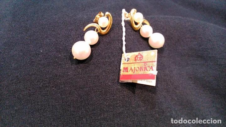 Joyeria: Pendientes vintage de oro Majorica - Foto 2 - 194011945