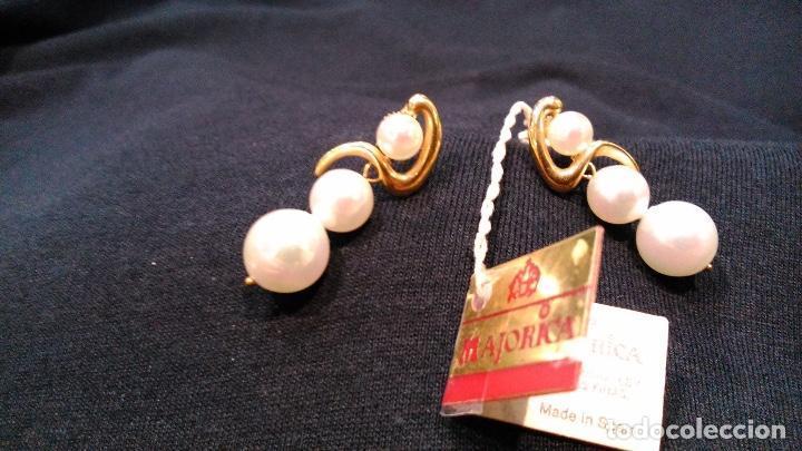 Joyeria: Pendientes vintage de oro Majorica - Foto 3 - 194011945