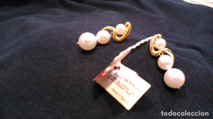 Joyeria: Pendientes vintage de oro Majorica - Foto 4 - 194011945
