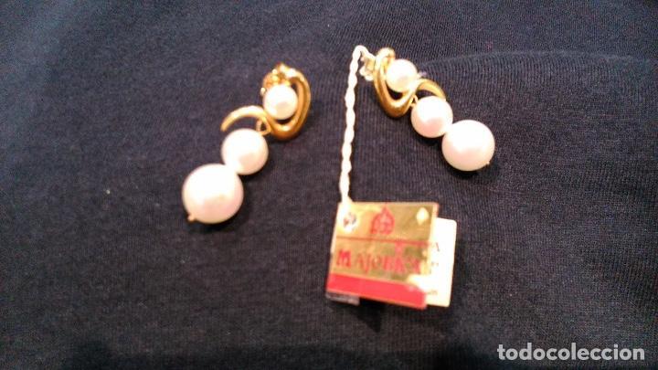 Joyeria: Pendientes vintage de oro Majorica - Foto 5 - 194011945