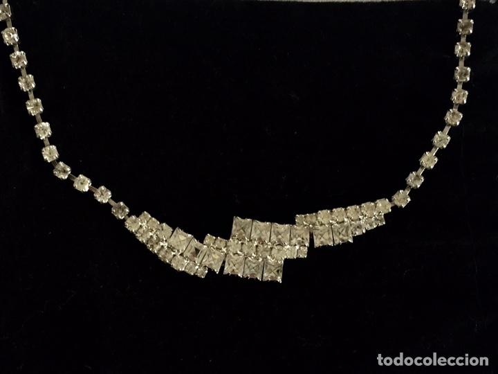 Joyeria: Gargantilla vintage de cristal de strass - Foto 2 - 194158998