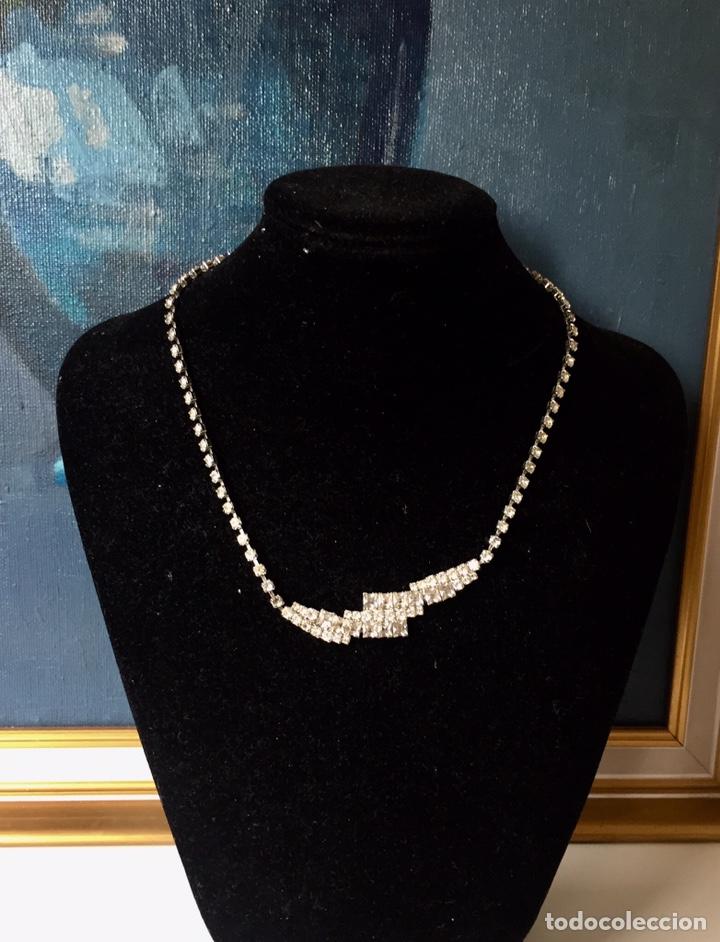 Joyeria: Gargantilla vintage de cristal de strass - Foto 6 - 194158998