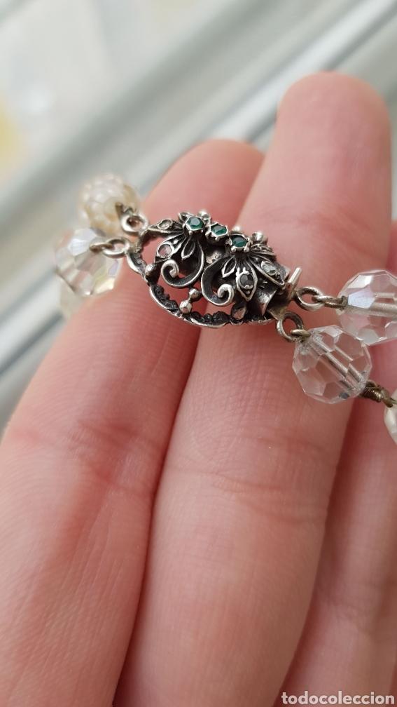 Joyeria: Bonita gargantilla de cristal y cierre en plata con piedras - Foto 2 - 194206456