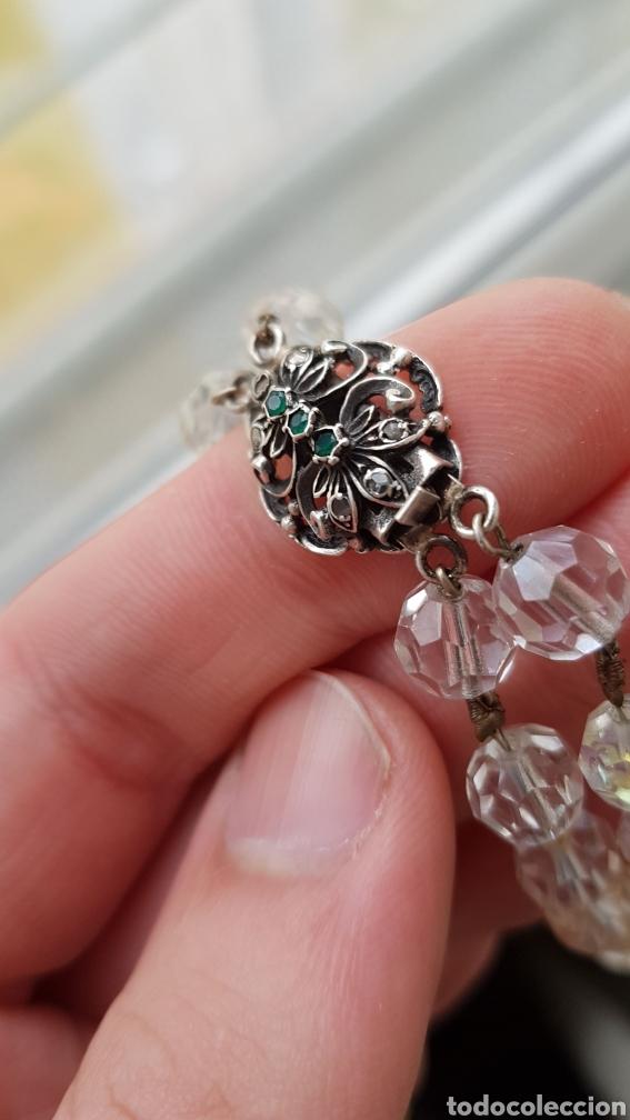 Joyeria: Bonita gargantilla de cristal y cierre en plata con piedras - Foto 3 - 194206456