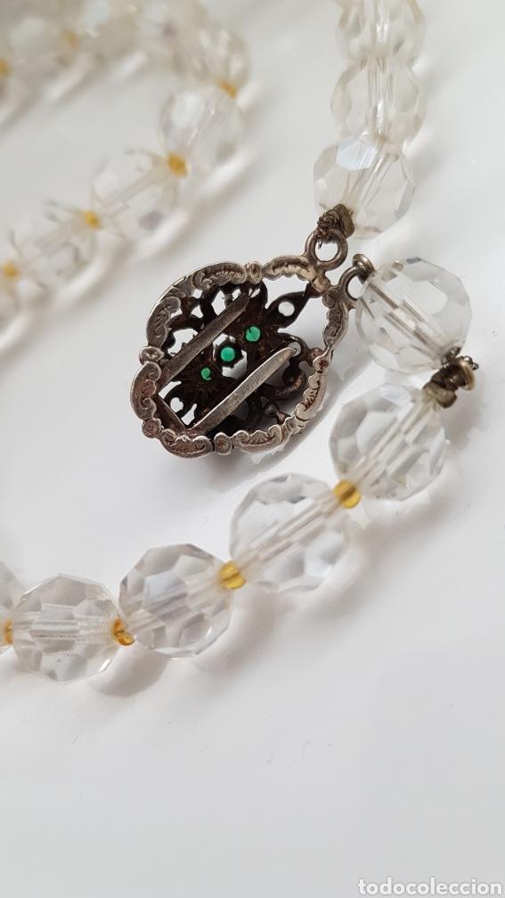 Joyeria: Bonita gargantilla de cristal y cierre en plata con piedras - Foto 4 - 194206456
