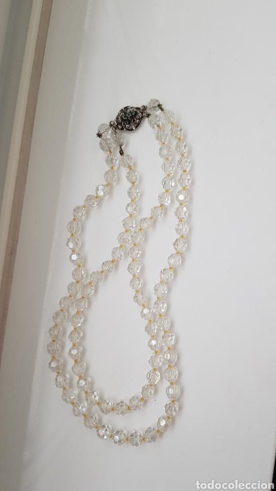 Joyeria: Bonita gargantilla de cristal y cierre en plata con piedras - Foto 6 - 194206456