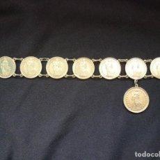Joyeria: PRECIOSA PULSERA VINTAGE DE MONEDAS DE PLATA SUIZAS.. Lote 194206940