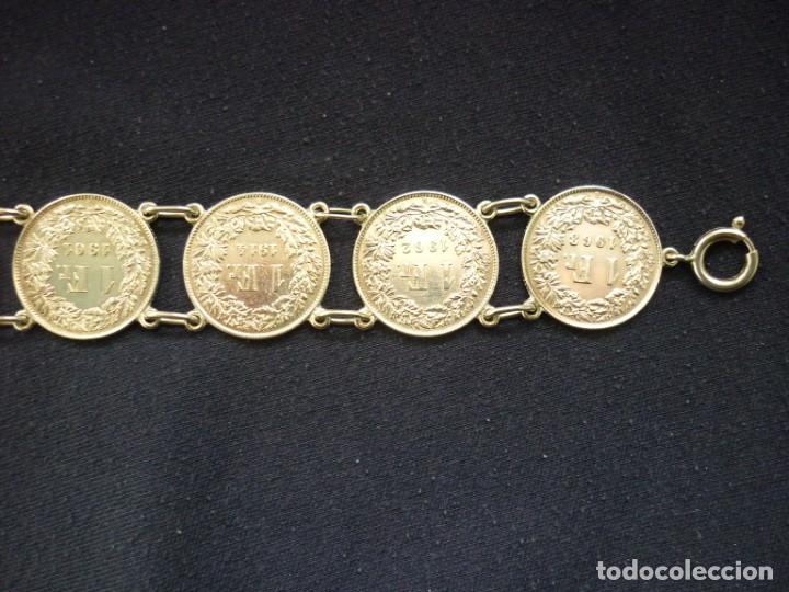 Joyeria: Preciosa pulsera vintage de monedas de plata suizas. - Foto 6 - 194206940