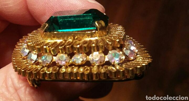 Joyeria: Broche esmeralda - Fantasia - anos 60 - Foto 2 - 194208323