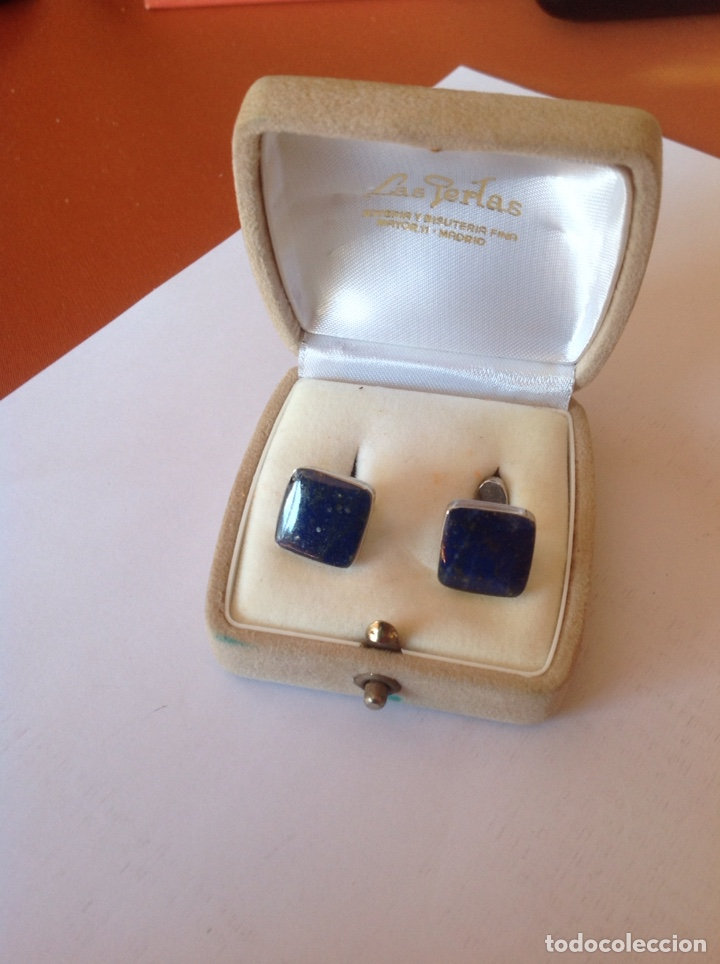 Joyeria: Gemelos de plata y lapislázuli - Foto 4 - 194224745