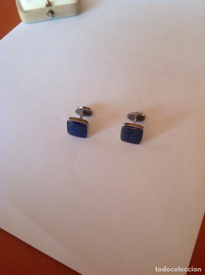 Joyeria: Gemelos de plata y lapislázuli - Foto 5 - 194224745