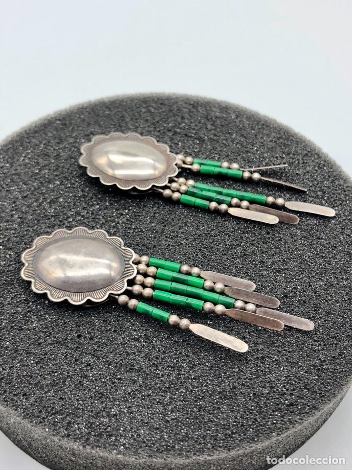 Joyeria: Antiguos pendientes de plata indios Navajos Q.T. STERLING - Foto 2 - 194280493