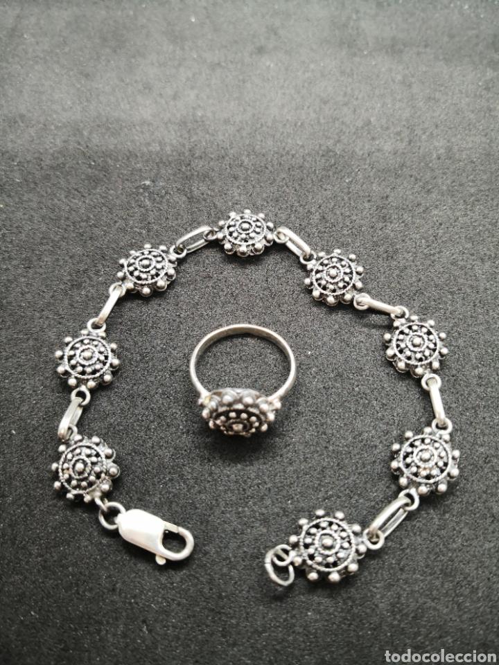 Joyeria: Conjunto de plata de Salamanca brazalete y anillo - Foto 2 - 194384180