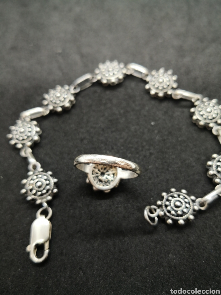 Joyeria: Conjunto de plata de Salamanca brazalete y anillo - Foto 3 - 194384180