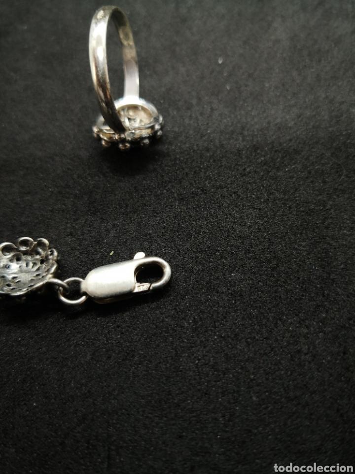 Joyeria: Conjunto de plata de Salamanca brazalete y anillo - Foto 4 - 194384180