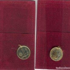 Joyeria: COLGANTE MONEDA 1 PESETA JUAN CARLOS BAÑADA EN ORO 999. Lote 194641281
