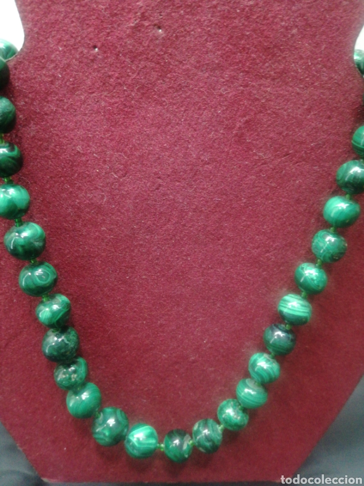 Joyeria: Bonito collar antiguo de malaquita - Foto 2 - 194770958