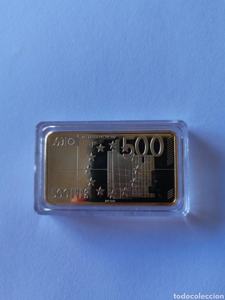 Joyeria: Oro laminado. Lingote homenaje a la unión europea. 500 euros. Europa - Foto 2 - 194785480