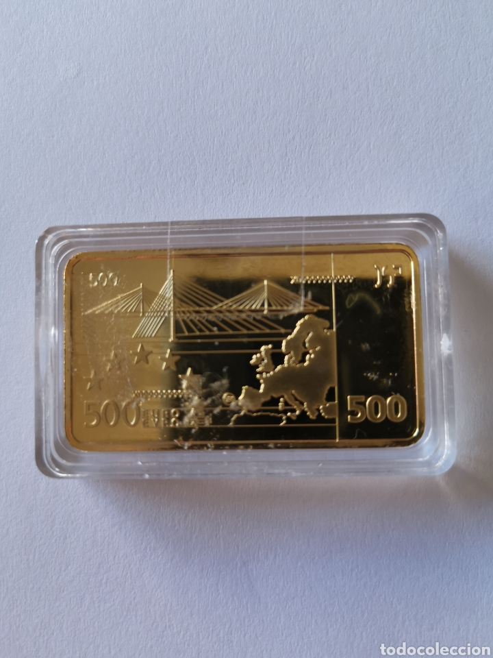 Joyeria: Oro laminado. Lingote homenaje a la unión europea. 500 euros. Europa - Foto 3 - 194785480