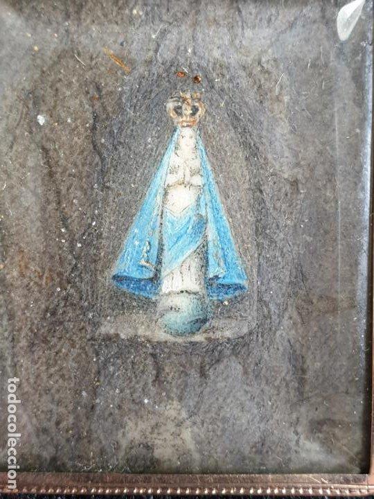 Joyeria: Antiguo colgante en Oro 14K con imagen nuestra señora XIX - Foto 3 - 194859267