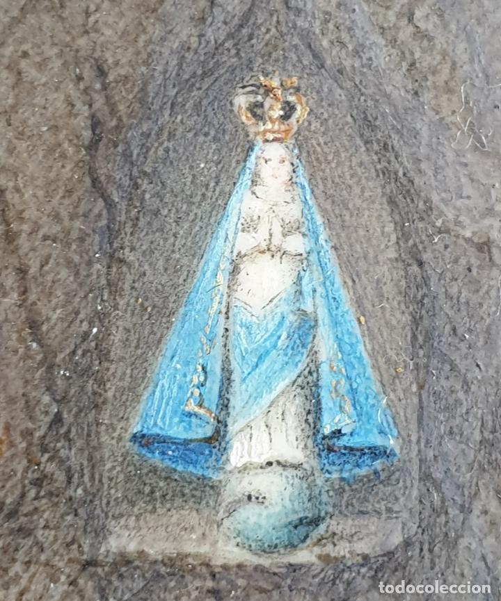 Joyeria: Antiguo colgante en Oro 14K con imagen nuestra señora XIX - Foto 4 - 194859267