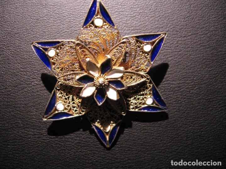 Joyeria: Broche antiguo, filigrana y esmaltes. - Foto 15 - 194871941