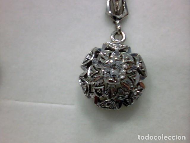 Joyeria: pendientes oro blanco 18 kts y diamantes - Foto 4 - 194872991