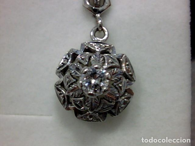 Joyeria: pendientes oro blanco 18 kts y diamantes - Foto 5 - 194872991
