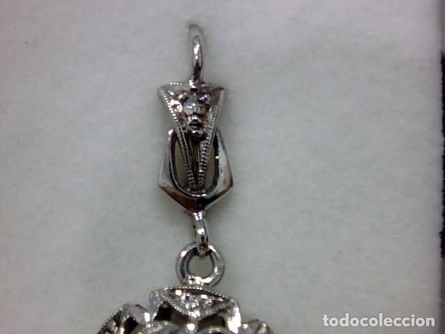 Joyeria: pendientes oro blanco 18 kts y diamantes - Foto 6 - 194872991