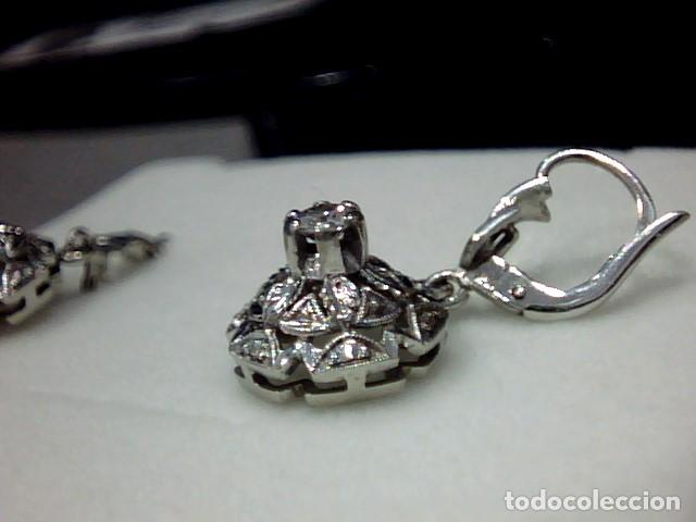 Joyeria: pendientes oro blanco 18 kts y diamantes - Foto 7 - 194872991