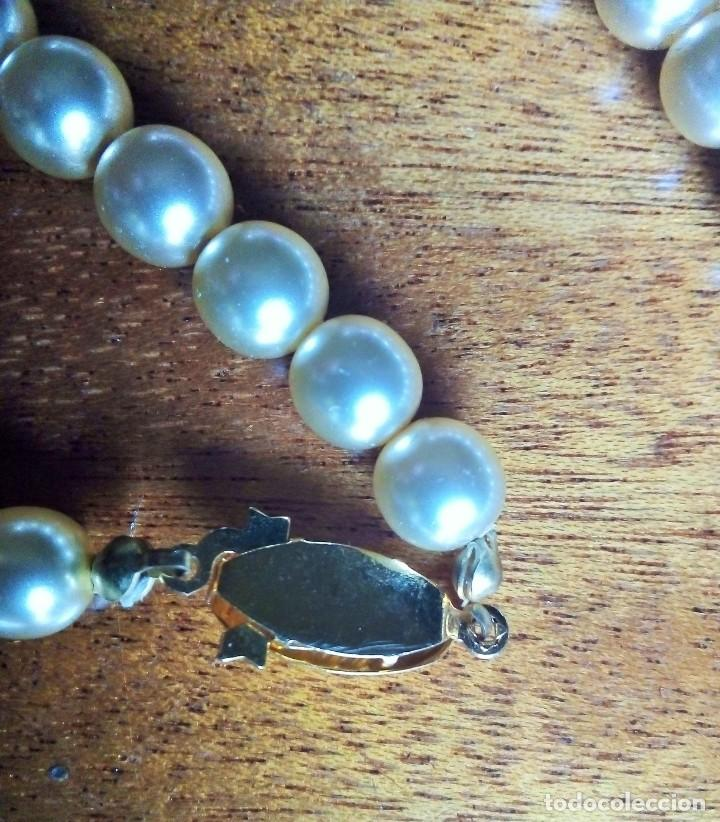 Joyeria: Collar y pulsera a juego. Perles Mallorca con broches dorados o chapados en oro. - Foto 3 - 194874235