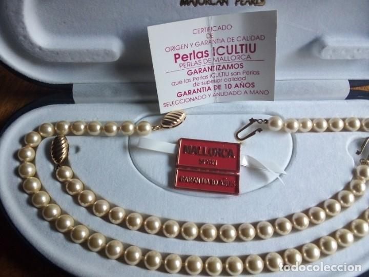 Joyeria: Collar y pulsera a juego, perlas I CULTIU MALLORCA, ANUDADO A MANO. BROCHES DORADOS O CHAPADOS ORO - Foto 2 - 194874610