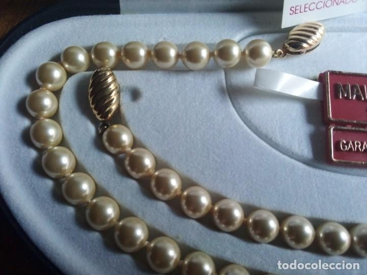 Joyeria: Collar y pulsera a juego, perlas I CULTIU MALLORCA, ANUDADO A MANO. BROCHES DORADOS O CHAPADOS ORO - Foto 3 - 194874610