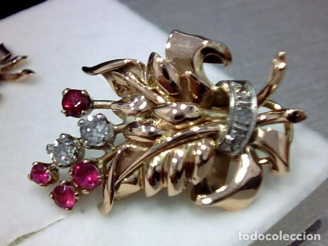 Joyeria: pendiientes oro 18 kts ,platino y diamantes - Foto 2 - 194884172