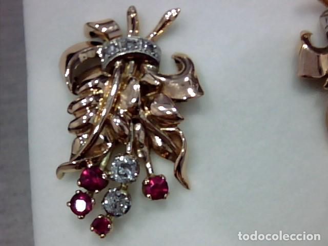 Joyeria: pendiientes oro 18 kts ,platino y diamantes - Foto 4 - 194884172