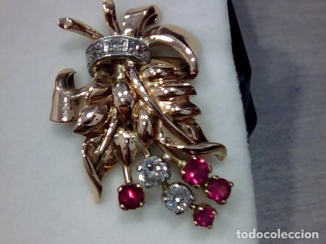Joyeria: pendiientes oro 18 kts ,platino y diamantes - Foto 5 - 194884172