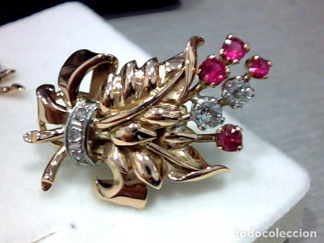Joyeria: pendiientes oro 18 kts ,platino y diamantes - Foto 6 - 194884172