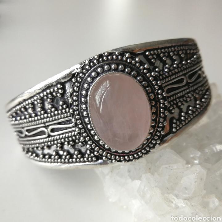 Joyeria: Brazalete pulsera ajustable con Cuarzo rosa - 35gr. - Foto 2 - 195013747