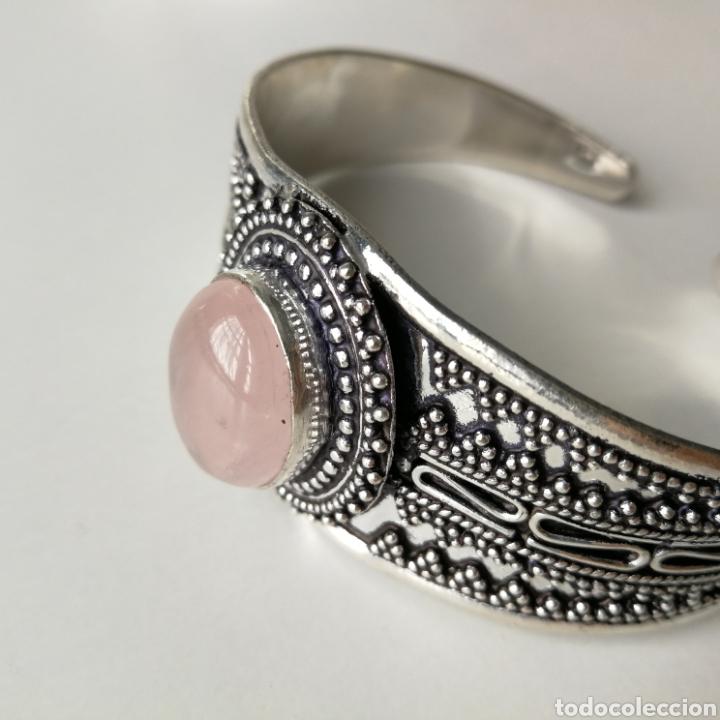 Joyeria: Brazalete pulsera ajustable con Cuarzo rosa - 35gr. - Foto 3 - 195013747